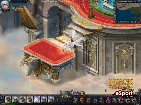 Heroes of Might and Magic Online.