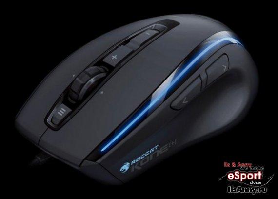 Мышь Roccat Kone[+] с разрешением 6000 точек/дюйм